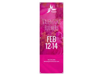 Valentine's Day Flowers Banner Template preview