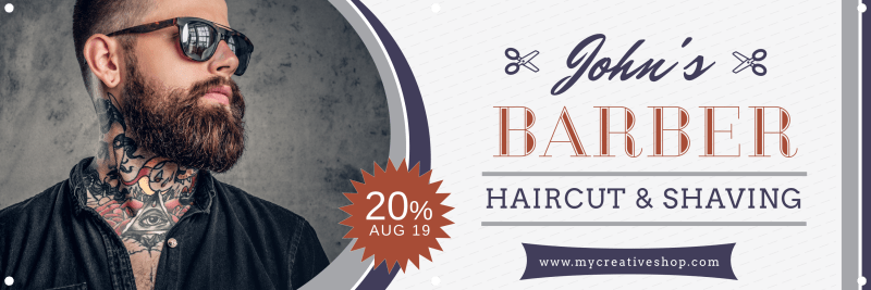 Barber Shop Banner Template Preview 2