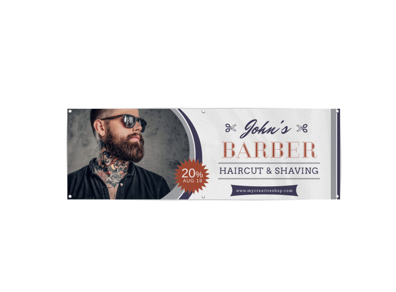 Barber Shop Banner Template Preview 1
