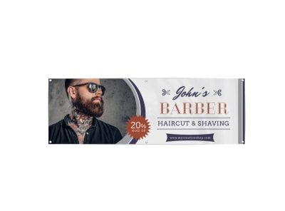 Barber Shop Banner Template preview