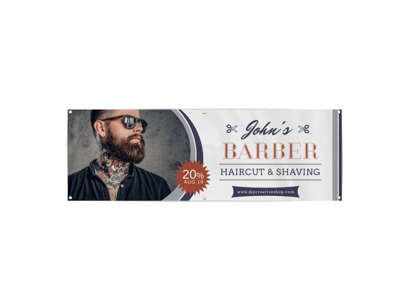Barber Shop Banner Template Preview 3