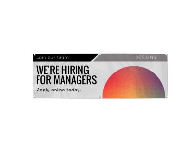 Now Hiring Managers Banner Template