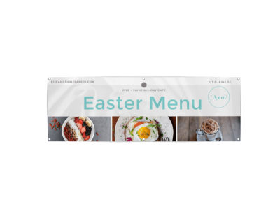 Easter Menu Banner Template preview