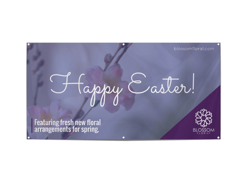 Easter Floral Banner Template Preview 3