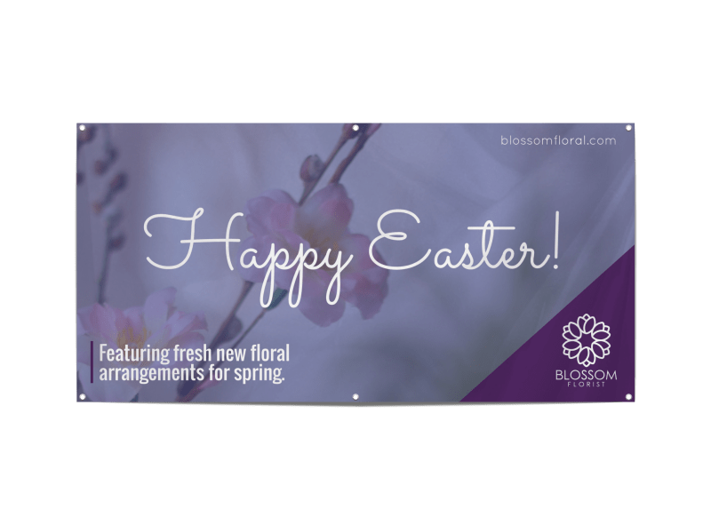 Easter Floral Banner Template Preview 1