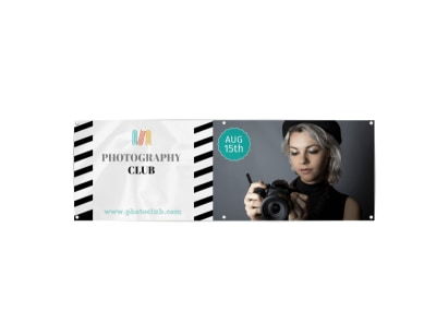 School Photography Club Banner Template preview