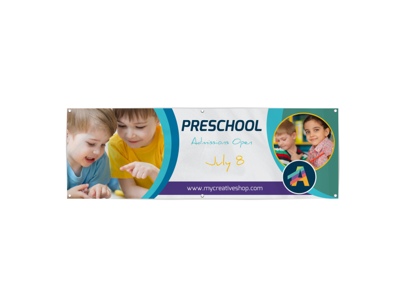 Preschool Banner Template Preview 1