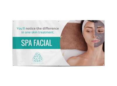 Spa Facial Banner Template preview