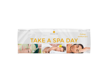 Take A Spa Day Banner Template preview