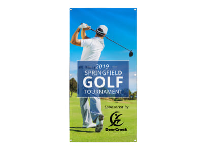 Spring Golf Tournament Banner Template preview