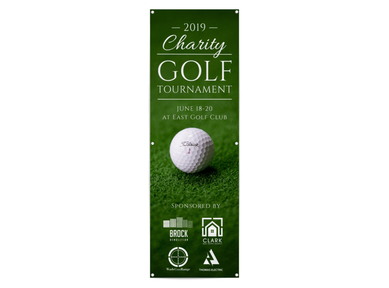 Charity Golf Tournament Banner Template Preview 1