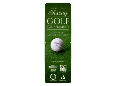 Charity Golf Tournament Banner Template preview