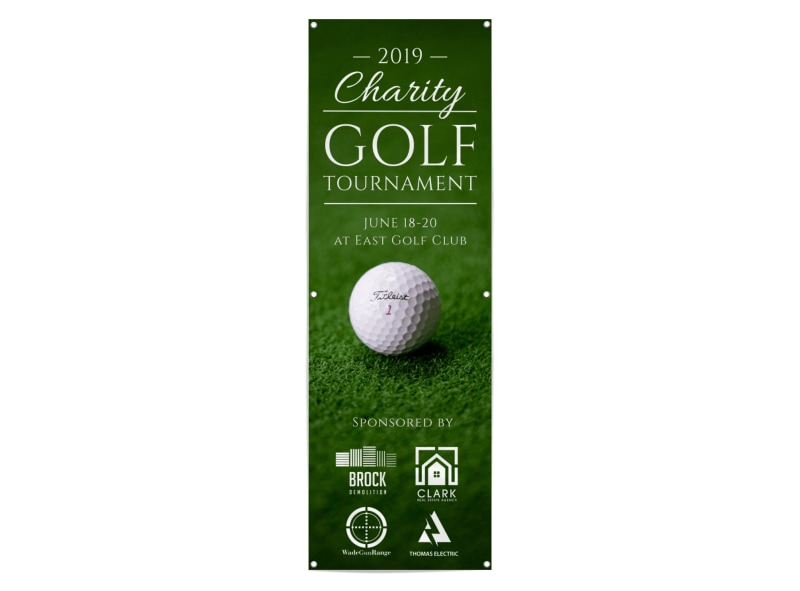 Charity Golf Tournament Banner Template Preview 3