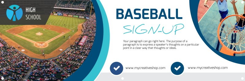 Baseball Sign-Up Banner Template Preview 2