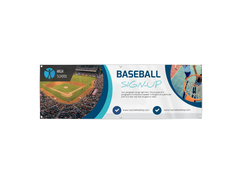 Baseball Sign-Up Banner Template Preview 3