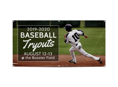 Baseball Tryout Banner Template preview