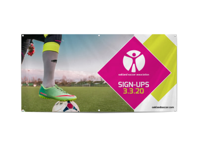 Soccer Sign-Up Banner Template preview