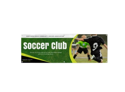 Soccer Club Banner Template preview