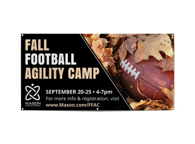 Fall Football Agility Camp Banner Template preview