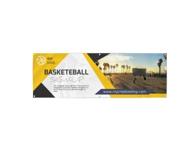 Basketball Sign-Up Banner Template preview