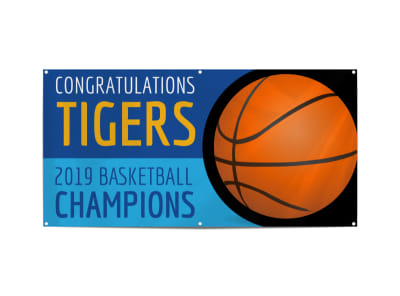 Champion Basketball Banner Template