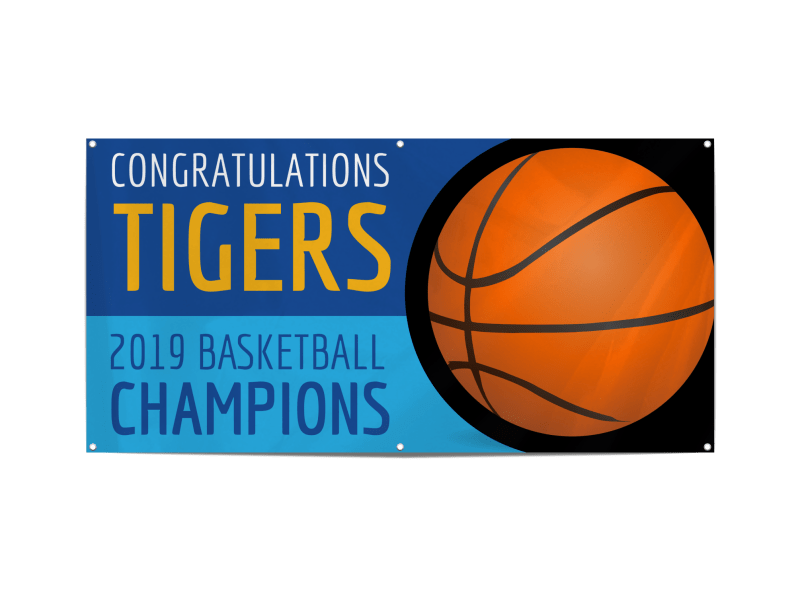 Champion Basketball Banner