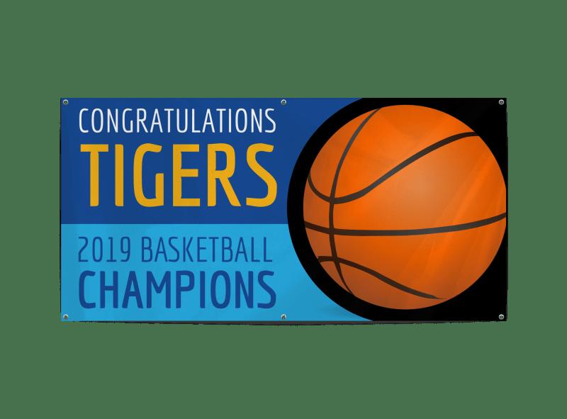 Champion Basketball Banner