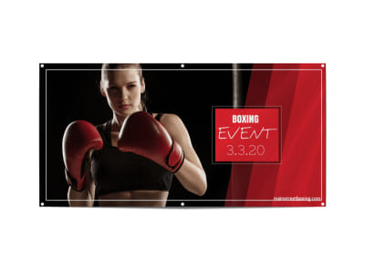 Boxing Event Banner Template