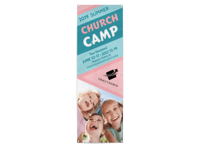 Summer Church Camp Banner Template preview