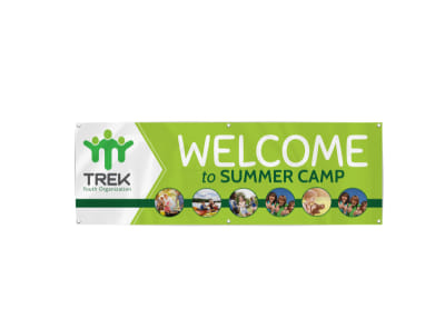 Summer Camp Welcome Banner Template preview