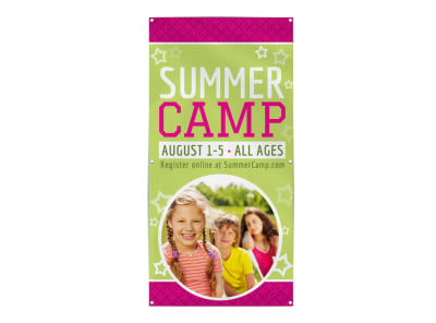 Fun Summer Camp Banner Template preview