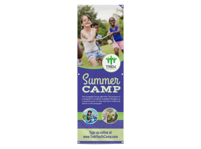 Beautiful Summer Camp Banner Template preview