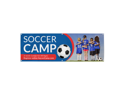 Cool Soccer Camp Banner Template preview