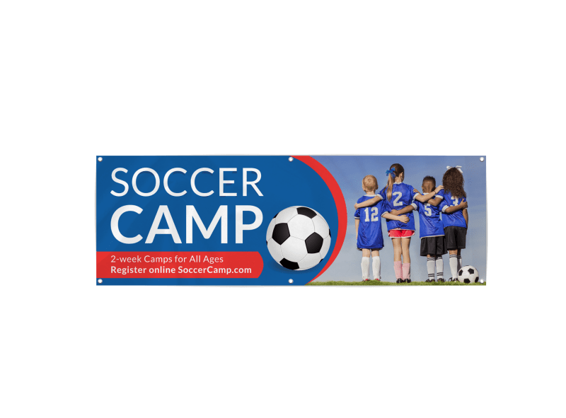 Cool Soccer Camp Banner Template Preview 1
