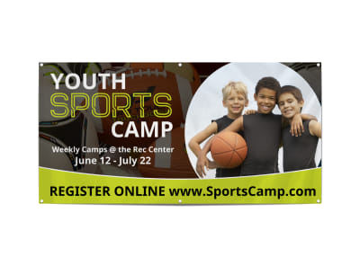 Youth Sports Camp Banner Template preview