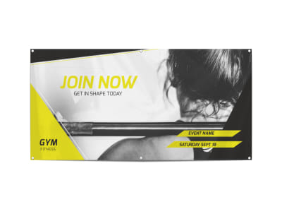 Join Now Fitness Banner Template preview