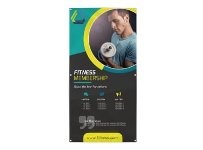Gym Membership Banner Template preview