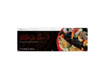 Bar & Grill Banner Template preview