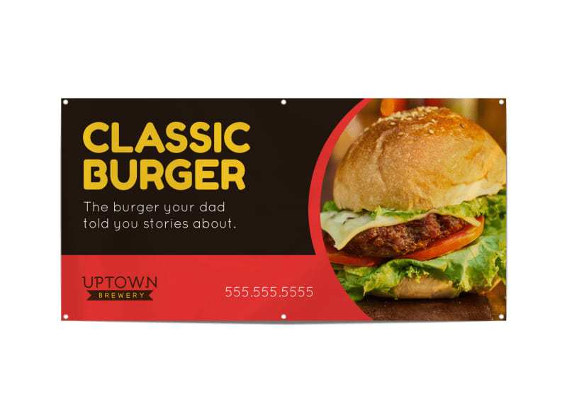 Classic Burger Banner Template Preview 3