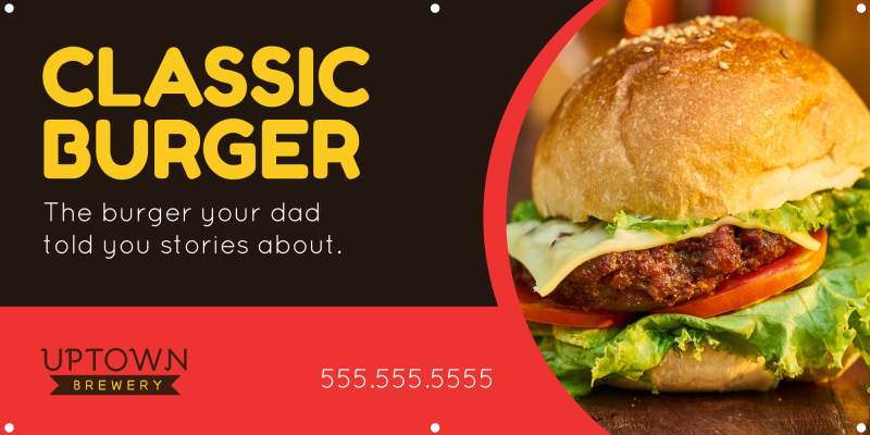 Classic Burger Banner Template Preview 2