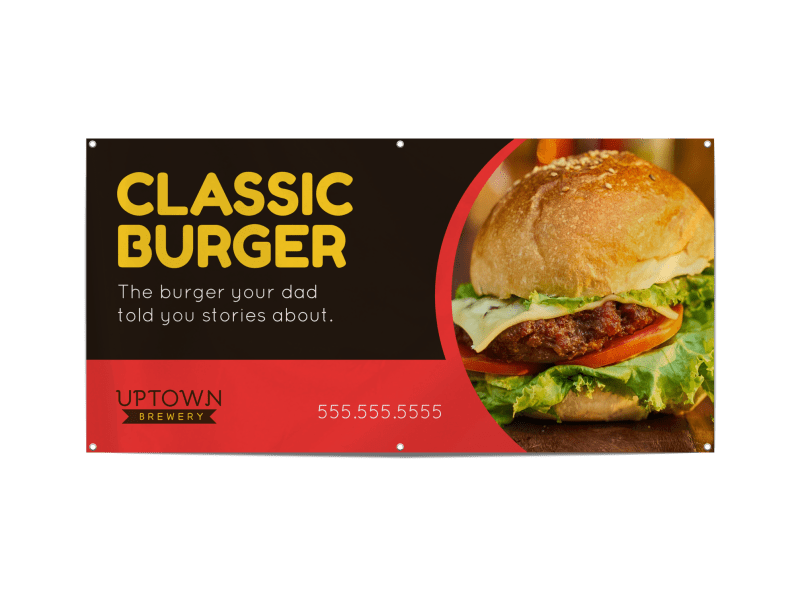 Classic Burger Banner Template Preview 1