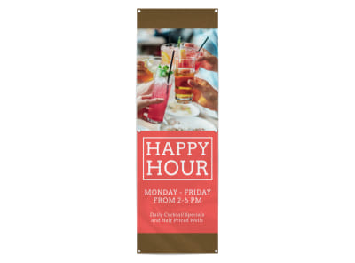 Bar Happy Hour Banner Template preview