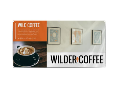 Wild Coffee Shop Banner Template preview
