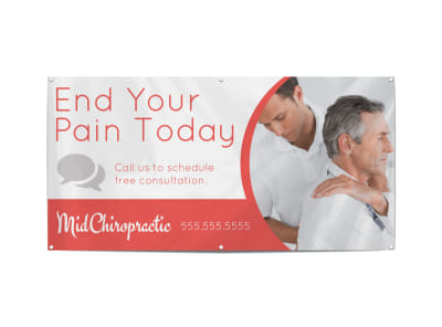 Red Chiropractic Banner Template preview