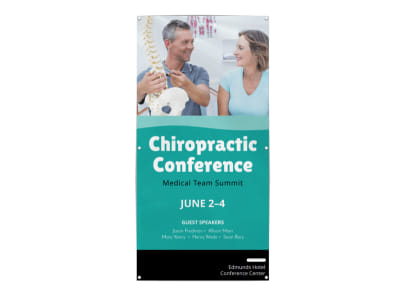 Chiropractic Conference Banner Template preview