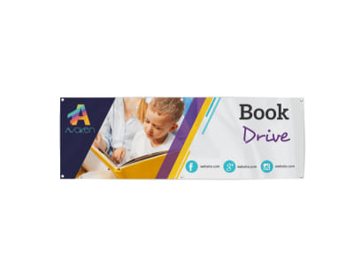 Charity Book Drive Banner Template preview