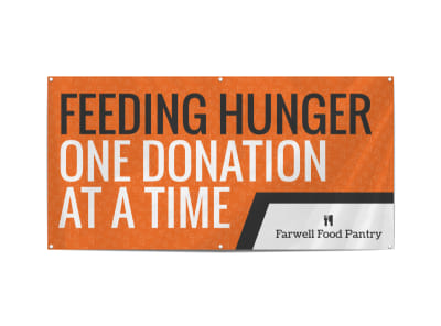 Feeding Hunger Banner Template preview