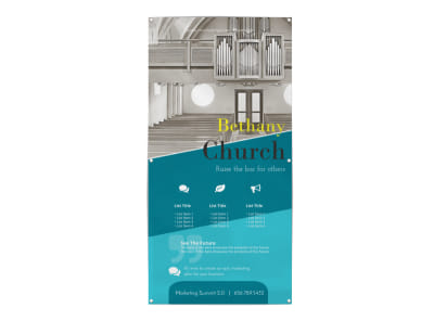 Blue Church Banner Template preview