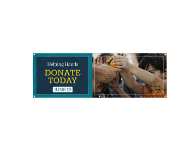 Donate Today Banner Template preview