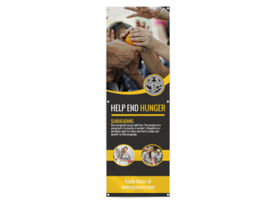 Help End Hunger Banner Template preview